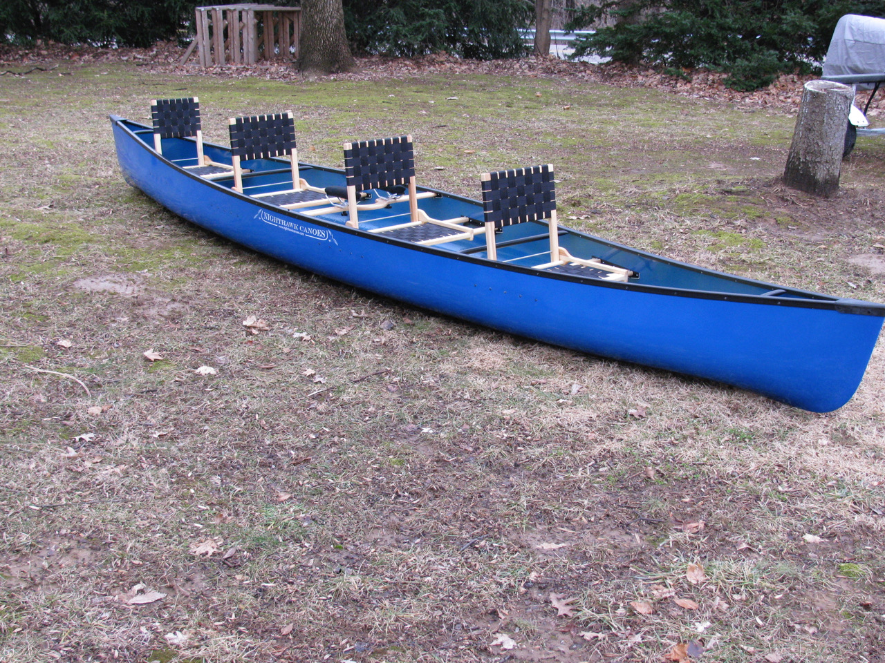 Pegasus 18.5, Epoxy color- keel blue, black trim, 4 seats, seat back